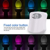 LED Toilet Tool Night Lights Baby Light 8 and 16 Color Human Body Smart Induction Lamp Hanging Automatic RGB Backlight for Restroom Bowl Cover Lamps Indoor Lighting