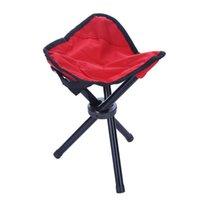 Taburete plegable del triángulo al aire libre, silla conveniente de la pesca de tres patas, accesorios de taburete de bolsillo