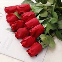 Decorative Flowers & Wreaths Bouquet Roses Making Wedding Decoration Real Touch Latex Rose Floral Artificial Flower Bud