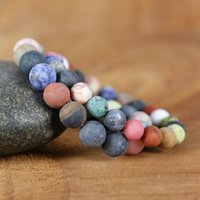Tennis 2021 10mm 8mm Natural Stone Beads Wrap Bracelets Yoga Lovers Bracelet Fancy Femme Boho Couples Jewelry Gift