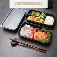 식기류 세트 10pcs 일회용 점심 상자 플라스틱 에코 - 친화적 인 스시 휴대용 보관 용기 주방 레스토랑