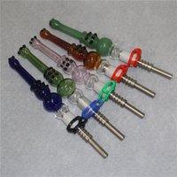 14mm kit de coletor de néctar com dicas de quartzo tubos de vidro concentrados concentrados silicone bad canudo tubos de petróleo acessórios de fumo