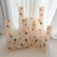 Gift Wrap 50Pcs Lot Supermarket Plastic Bags Shopping Packaging Vegetables Bag Good Quality Vest Pineapple Birthday Pouches1