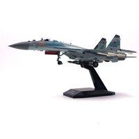 Jason Tutu Avião Avião Modelo 1/100 Russo Força Aérea Fighter Su 35 Avião Liga Modelo Diecast 1100 Planos de Metal