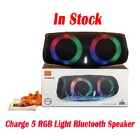Charge 5 RGB Light Bluetooth Speaker Charge5 Portable Mini Wireless Outdoor Waterproof Subwoofer Speakers Support TF USB Card