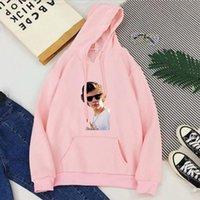 Women's Hoodies & Sweatshirts Vintage Pink Kawaii Korean Tops Women Casual Print Streetwear 2021 Womens Clothing