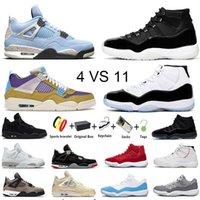 Jumpman 11 masculino 4 tênis de basquete Concord space jam Boné e vestido 11s Hyper Royal Dark Mocha University Blue 4s Desert Moss homens mulheres tênis esportivos