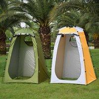 Double couche imperméable anti-UV tentes de tourisme changeant salle d'ajustement de la salle de bain de camping en plein air anti-UV Tente de bain et abris