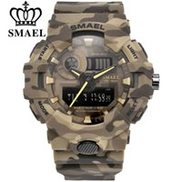 SMAEL Sport Watch Military Watches Men Army Digital Writwatch LED 50m Waterproof Men's Watch Gift Colcks