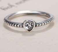 925 Silver Heart Ring Fit Pandora Cz Anniversary Jewelry For Women Christmas Gift wjl4124