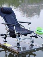 Chaise de pêche européenne pliante pliante plate-forme de levage multifonction plate-forme en acier inoxydable accessoires de tabouret en acier inoxydable