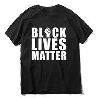 6 couleurs hommes T-shirts Black Lives Lettres Lettres Impression d'une t-shirt féminin mâle lâche t-shirt coton manches courtes vêtements décontractés