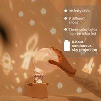 360도 Rotatio Guardian Angel 프로젝션 야간 조명 CX-03 램프 LED 다기능 꿈의 하늘 회전 음악 창의력