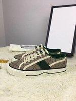 Erkekler Kadınlar Rahat Ayakkabılar Düz Platformu En Kaliteli Chaussures Deri Sneakers ACE Arı Nakış Çizgili Yürüyüş Spor Ayakkabı 35-45 US4-US11