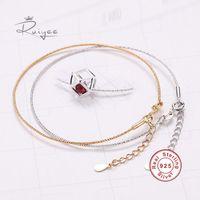 Cuff RUIYEE 925 Sterling Silver Bracelet Ladies Charm Stainless Steel Jewelry Custom Gift Friendship Bracelets