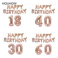 New 60 50 30 18 Years Old Birthday Balloon Letter Number Inflatable Baloon Birthday Party Decoration Adult Happy Birthday Ballon Y0923
