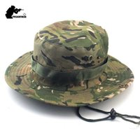 Brand Military Camouflage Boonie Hats 26 Colors High Quality Outdoor Casual Bucket Hat Hunting Hiking Fishing Climbing Cap Ka23 Q0811