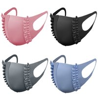 ice silk face mask women black blue pink gray Lace thin masks girls respirator dustproof breathable washable reusable facemask