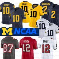 Michigan Wolverines Jersey Desmond Howard 10 Tom Brady 2 Charles Woodson Shea Patterson NCAA Football Jersey