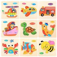 1 pcs intelligence 3d quebra-cabeça de madeira crianças brinquedo desenhos animados animal quebra-cabeça quebra-cabeça cedo brinquedos educativos para crianças presentes