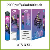AIS XXL 2000puffs electronic cigarette disposable pen with 800mah vape battery and 6ml pods