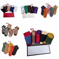 Klasik Mektup Çorap Bayan Moda Rahat Spor Pamuk Çorap Harfleri Işlemeli Çorap Nefes Kaymaz Çorap 5 Çift KUTU