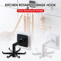 Hooks & Rails Multi-Purpose 360 Degree Rotated Kitchen Self Adhesive 6 Home Wall Door Hook Handbag Clothes Bag Hanger Hanging Rack