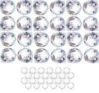 Weihnachtsdekorationen Kristalleuncatcher Klar Kristallkugel Prisma Suncatcher Regenbogen Anhänger Hersteller Hängende Kristalle Prismen für Fenster, Auto, 20mm