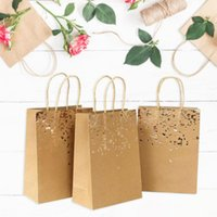Gift Wrap 10pc 50pc Cowhide Bag Bags Kraft Paper Birthday Wedding Christmas And Festive Celebrations For Shop Supplies