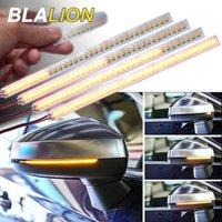Luz de sinal de carro luz universal retrovisor espelho indicador lâmpada streamer tira aviso flexível auto fluxo led luzes de emergência