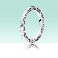 Klassisches Design Frauen Herren 925 Sterling Silber Ring Original Box Set für Pandora Hallmark CZ Diamant Schmuck Ringe Set