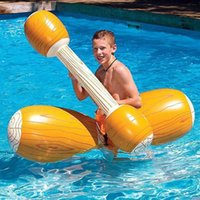 Life Vest & Buoy 4pcs Inflatable Swimming Ring Pool Toys Water Battle Log Logs Portable Folding Beach For Adults Children