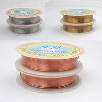 2pcs 20 jauge 0.8mm bijoux cuivre fil d'or argent rouge noir coloré 3YD * 2 bricolage bracelet boucle d'oreille faisant un fil d'artisanat d'emballage
