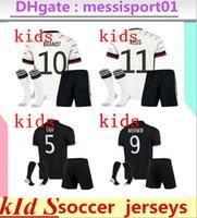 kit kit + calcetines alemania fútbol jersey 2021 ventiladores versión hummels kroos gnabry werner draxler reus muller gotze taza camisa uniformes uniformes niño kit