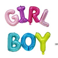 Party Decorations Boy Girl Aluminium Foil Balloons Decor Baby Shower Birthday Kids Gender Reveal Balloon Colorful Letters Shaped AHA5534