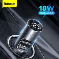 Baseus FM Verici Güç Adaptörü Bluetooth Araba Alıcısı Için 18 W Radyo Kiti MP3 Çalar USB Aux Handsfree Kablosuz FM Modülatör