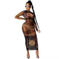 Plus Size Kobiety I Vintage Damska Sukienka Etniczna Dresselegant Casual Długie Lato Luźne O Neck Krótki Rękaw Robe Femme Damska Damska Suknia