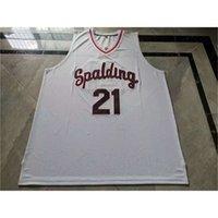 00980098Rare jersey de basquete homens juventude mulheres vintage # 21 rudy gay arcebispo spalding High School College size s-5xl personalizado todo nome ou número