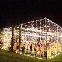 3 * 3M LED 고드름 문자열 커튼 요정 빛 300 LED 크리스마스 장식 램프 웨딩 홈 가든 파티 휴일 조명