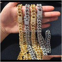 Pendant & Pendants Jewelryfull Diamond Hip Hop Bling Necklaces Men Women Jewelry Chains Necklace Gold Sier Cuban Link Chain Gift Kimter-M026