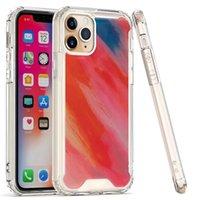Cajas de teléfono de mármol Gloss Funda Hard PC a prueba de golpes para iPhone 12 11 Pro Max XR XS 6S 7 8 Samsung A12 A32 A52 A72 A02S A02