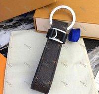 Neue Mode Schlüsselanhänger Zubehör Schlüsselanhänger Leder Brief Muster Auto Keychain Schmuck Tasche Charme mit Kasten 11 Arten 1981
