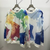 2021 Paris Designer Mens Hoodies Womens Sweatershirt Luxus Blumen Patchwork Color Print Sweathirt Mode Lose Oevrsisize Langarm Hoody Pullover