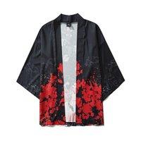 Men's Casual Shirts Summer Shirt Japanese Five Point Sleeves Kimono Mens And Womens Cloak Jacke Top Blouse Camisa Masculina Harajuku Clothes