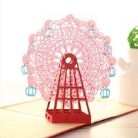 Grußkarten Mode 3D Handmade Riesenrad Origami Design Up Laser Cut Post Geburtstag Valentine