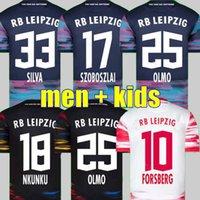 20 21 22 22 Rbl Soccer Jerseys Sabitzer 2021 2022 Adams Sorloth Nkunku Forsberg Camisa de futebol Angelino Poulsen Olmo Leipziges Jersey