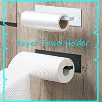 Self-Adhesive Under Cabinet Paper Roll Rack Towel Holder Tissue Hanger Storage Shelf For Bathroom Toilet Kitchen Accessories & Organization