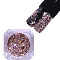 Neon Nail Glitter Holo Mirror Powder Heakes Nail Powling Sequins Paillette пыль Rainbow Chrome DIY de Jllxnq