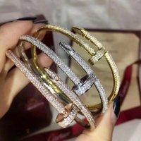 Браслет для ногтей 2.0 дизайнерский браслет золотой браслет роскошные ювелирные изделия женские браслеты из нержавеющей стали золото не аллергические никогда не искусываются