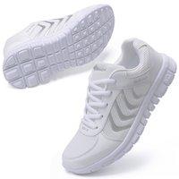 Zapatos de running mujer zapatilla de deporte transpirable ligero encaje zapatos casuales zapatillas de deporte de las mujeres de primavera verano